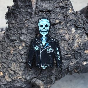 Anarchy Skeleton Enamel Pin