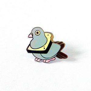 Bread Pigeon Enamel Pin