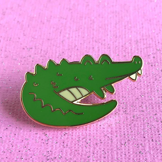 Cute Alligator Hard Enamel Pin