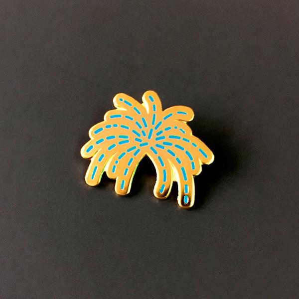 Firework Enamel Pin