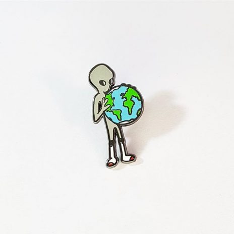 Gray Alien Enamel Pin