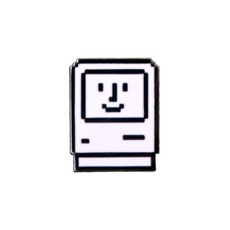 Happy Computer Enamel Pin