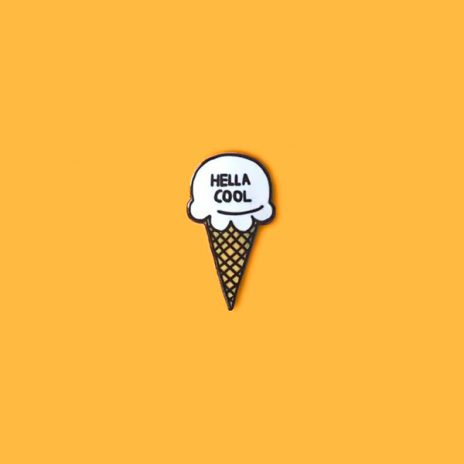 Hella Cool Ice Cream Enamel Pin