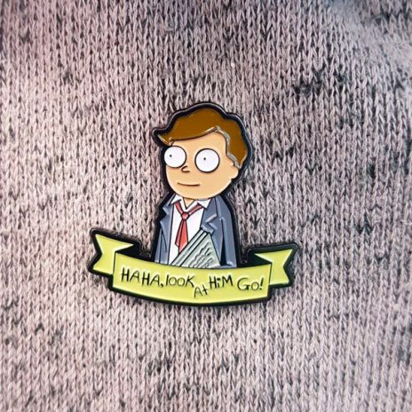 Lawyer Not Lawyer Morty Enamel Pin