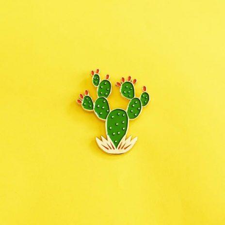 Prickly Pear Cactus Enamel Pin