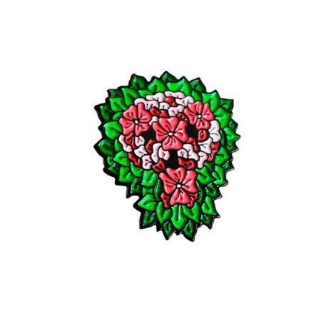 Reaper Skull Pink & Green Enamel Pin