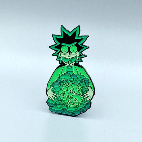 Rick's Isotope Enamel Pin