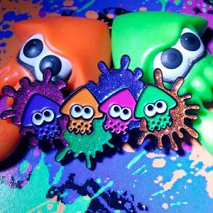 Squiddies Splatoon Enamel Pin