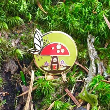 Stumper the Fairy House Enamel Pin