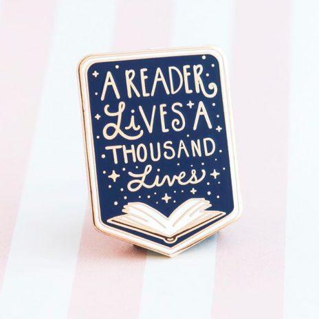 Book Lovers Enamel Pin