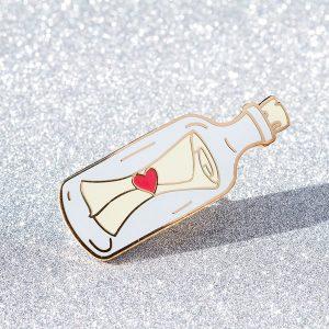 Message in a Bottle Enamel Pin