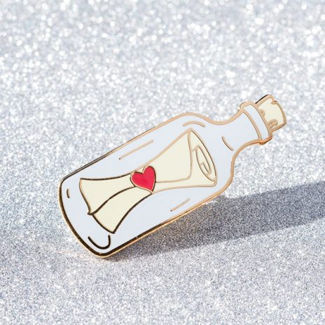Message in a Bottle Enamel Pin
