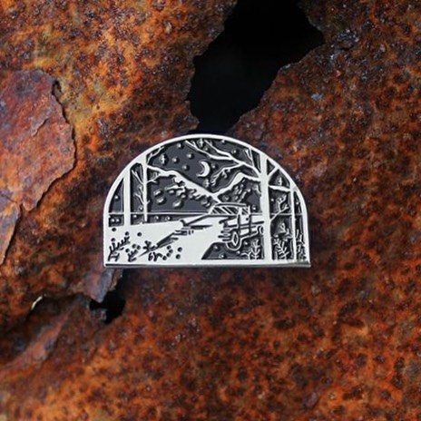 Night Drive Enamel Pin