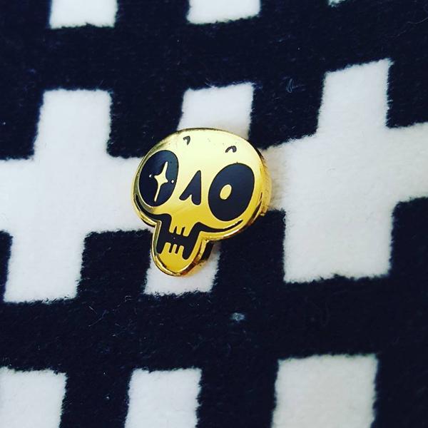 Petite Skull Enamel Pin