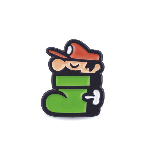 Mario: Plumber in a Shoe Enamel Pin