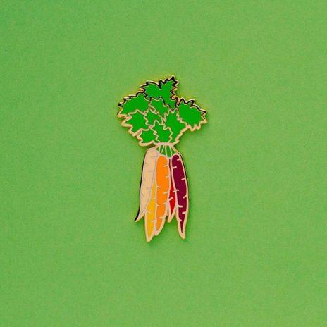 Rainbow Carrots Enamel Pin
