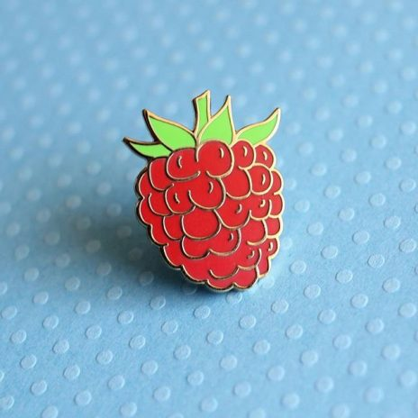 Raspberry Enamel Pin