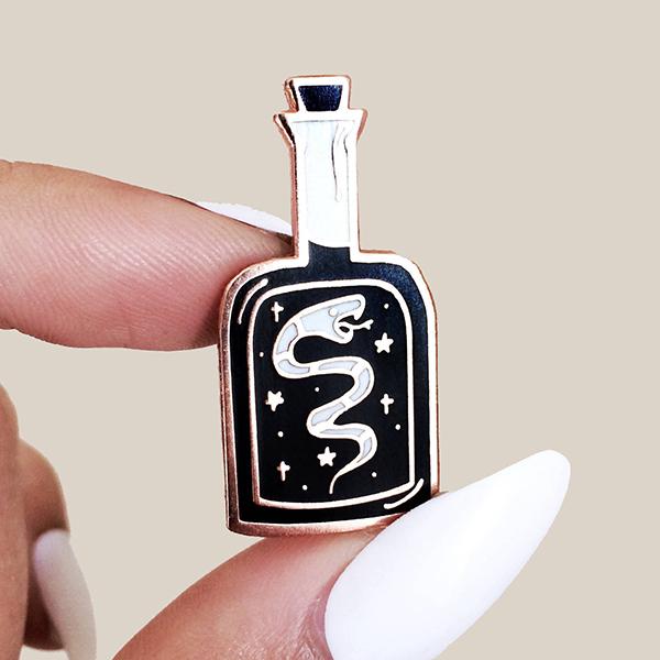 Snake Oil Enamel Pin