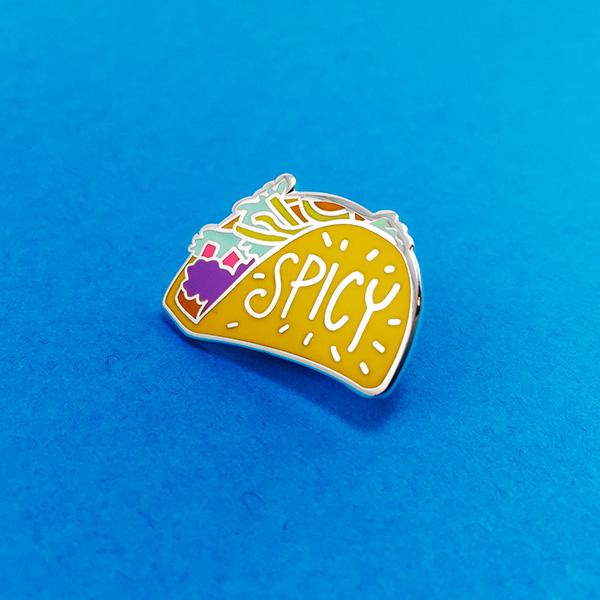 Spicy Taco Enamel Pin