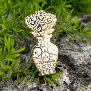 Still Life Gold Enamel Pin