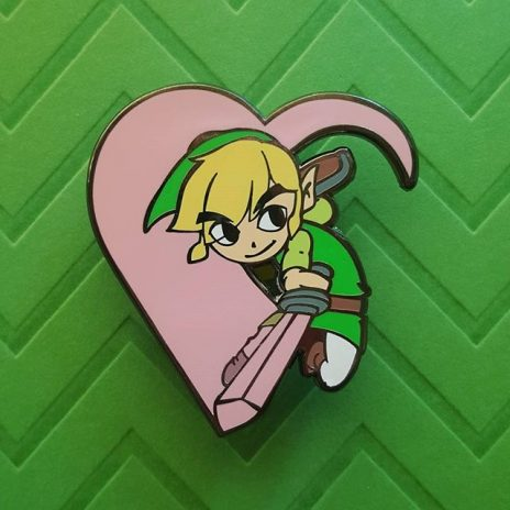 Zelda Heart Slash Enamel Pin