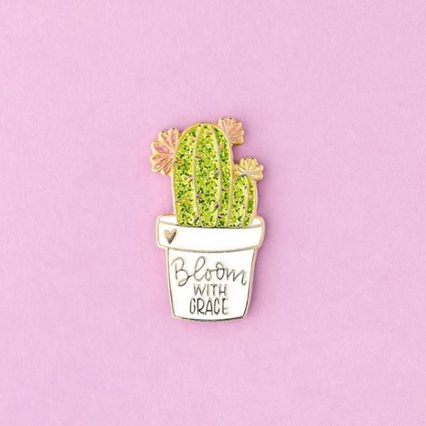 Bloom with Grace Cactus Enamel Pin