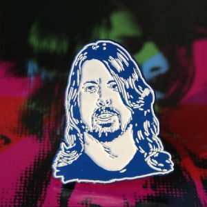 Blue Rock N' Roll Dave Grohl Enamel Pin