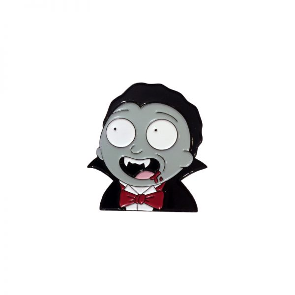 Count Morty Enamel Pin