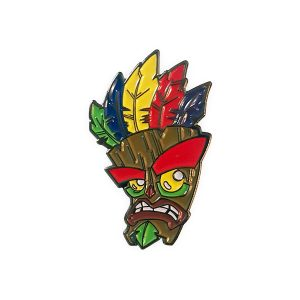 Crash Bandicoot Aku Aku Mask Enamel Pin