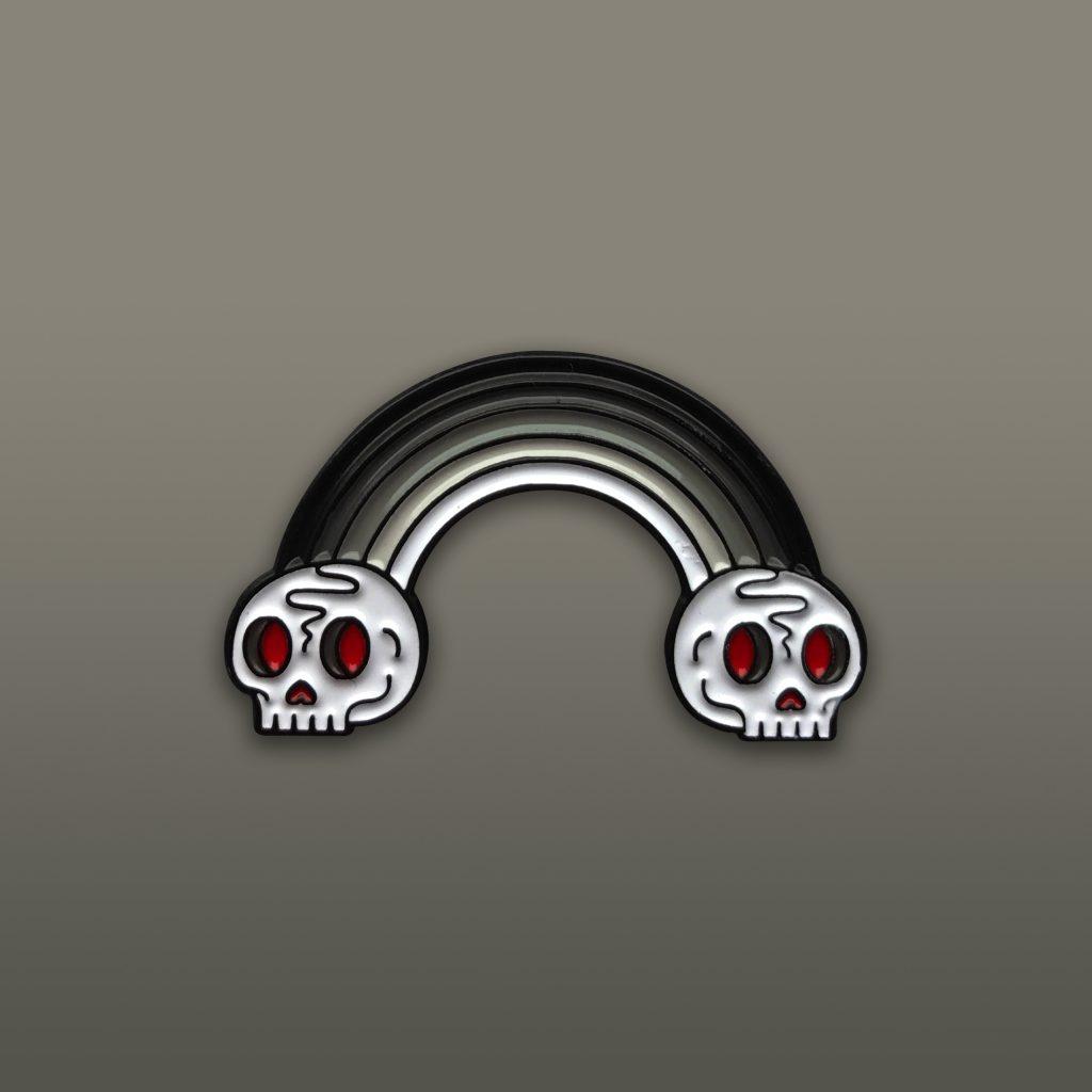 Death Rainbow Enamel Pin