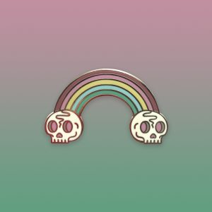 Death Rainbow Pastel Enamel Pin