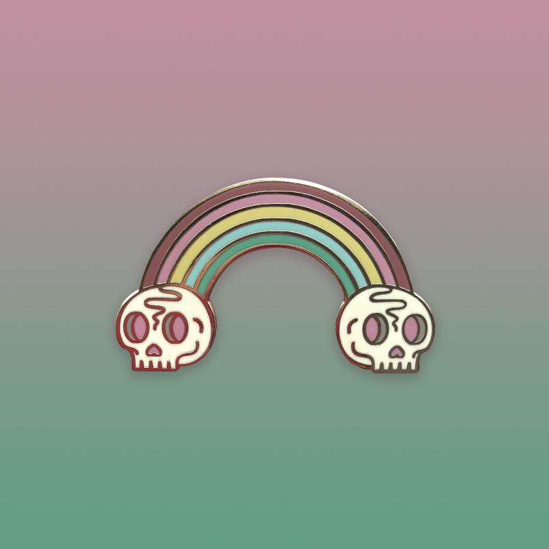 Death Rainbow Pastel Enamel Pin