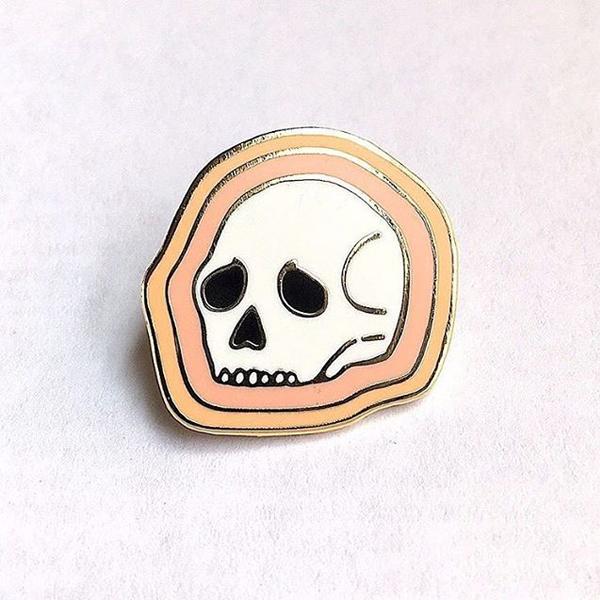 Deserted Skull Hard Enamel Pin