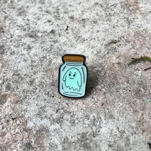 Ghost In A Jar Enamel Pin