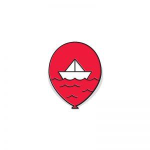 IT Red Balloon Enamel Pin