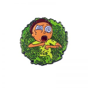 "Morty ""Dazed"" Portal Enamel Pin"