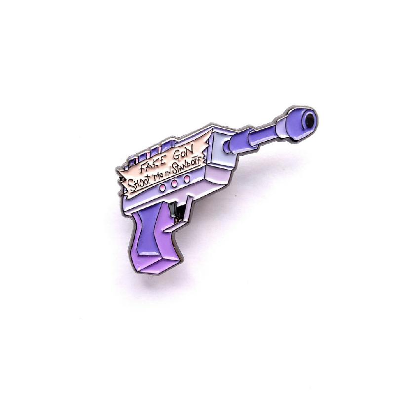Rick and Morty Fake Gun Enamel Pin