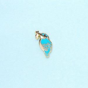 Tiny Kingfisher Enamel Pin