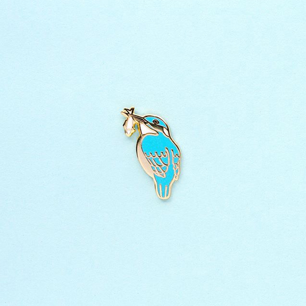 Tiny Kingfisher Enamel Pin