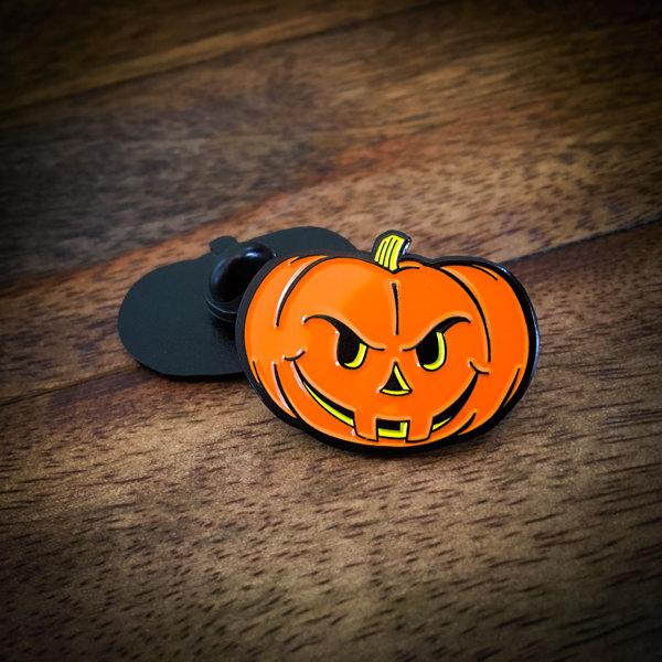 Angry Jack-O'-Lantern Halloween Pumpkin