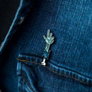 ARGHH Zombie Hand Enamel Pin