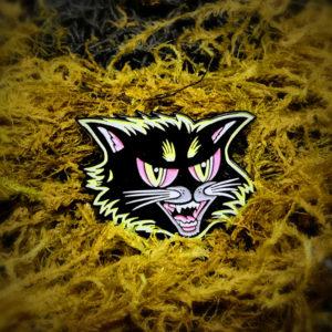 Black Cat Halloween Enamel Pin