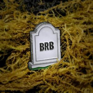 BRB Gravestone Enamel Pin