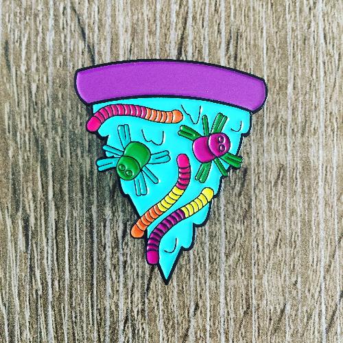 Halloween Pizza Enamel Pin