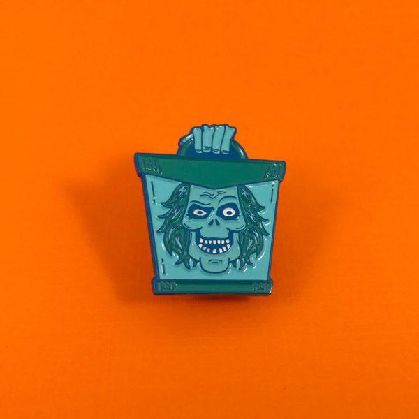 Hatbox Ghost Enamel Pin