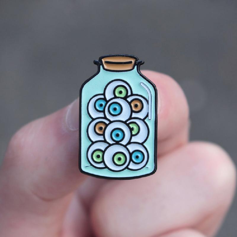Jar of Eyeballs Enamel Pin
