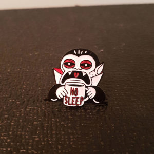 No Sleep Enamel Pin