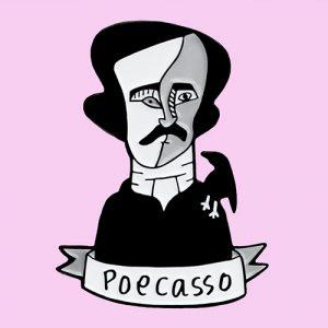 Poecasso Enamel Pin