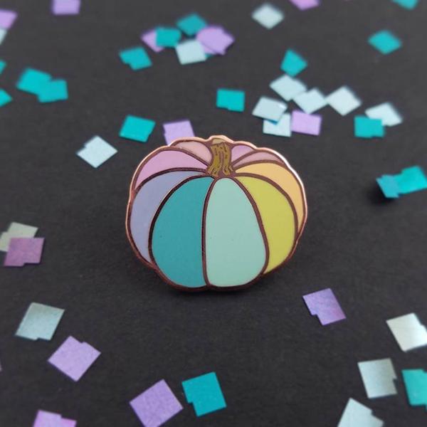 Rainbow Pumpkin Enamel Pin