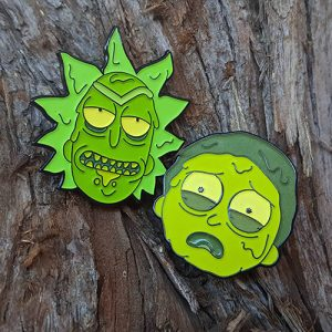 Rick and Morty Toxic Waste Enamel Pins